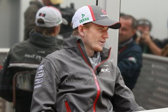 World © Octane Photographic Ltd. USA F1 Grand Prix, Austin, Texas, Circuit of the Americas (COTA). Paddock, Thursday 14th November 2013. Nico Hulkenberg – Sauber F1 Team. Digital Ref : 0852lw1d1081