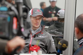 World © Octane Photographic Ltd. USA F1 Grand Prix, Austin, Texas, Circuit of the Americas (COTA). Paddock, Thursday 14th November 2013. Nico Hulkenberg – Sauber F1 Team. Digital Ref : 0852lw1d1084