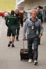 World © Octane Photographic Ltd. USA F1 Grand Prix, Austin, Texas, Circuit of the Americas (COTA). Paddock, Thursday 14th November 2013. Heikki Kovalainen - Lotus F1 Team. Digital Ref : 0852lw1d1093