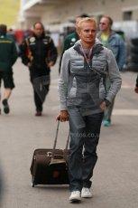World © Octane Photographic Ltd. USA F1 Grand Prix, Austin, Texas, Circuit of the Americas (COTA). Paddock, Thursday 14th November 2013. Heikki Kovalainen - Lotus F1 Team. Digital Ref : 0852lw1d1097