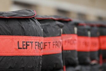 World © Octane Photographic Ltd. USA F1 Grand Prix, Austin, Texas, Circuit of the Americas (COTA). Paddock, Thursday 14th November 2013. Hard Pirelli tyre choices. Digital Ref : 0852lw1d1114