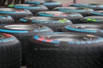 World © Octane Photographic Ltd. USA F1 Grand Prix, Austin, Texas, Circuit of the Americas (COTA). Paddock, Thursday 14th November 2013. Pirelli Full Wet tyre choice. Digital Ref : 0852lw1d1122