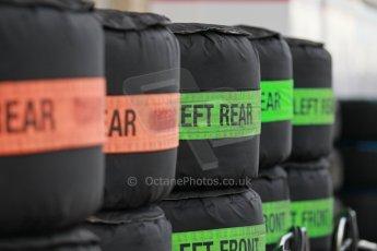 World © Octane Photographic Ltd. USA F1 Grand Prix, Austin, Texas, Circuit of the Americas (COTA). Paddock, Thursday 14th November 2013. Hard and Intermediate tyre choices. Digital Ref : 0852lw1d1125