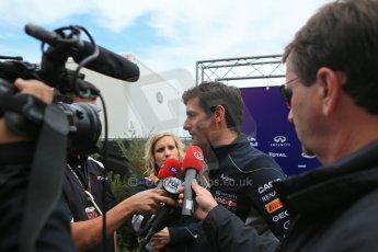 World © Octane Photographic Ltd. USA F1 Grand Prix, Austin, Texas, Circuit of the Americas (COTA). Paddock, Thursday 14th November 2013. Mark Webber – Infiniti Red Bull Racing. Digital Ref : 0852lw1d2646