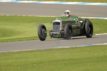 World © Octane Photographic Ltd. Donington Historic Festival, Friday 3rd May 2013. HGPCA Nuvolari Trophy pre-1940 GP cars with Hall and Hall. Frazer Nash Nurburg - Dick Smith. Digital Ref : 0645cb7d0006