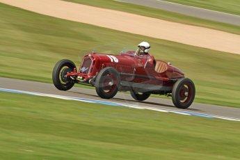 World © Octane Photographic Ltd. Donington Historic Festival, Friday 3rd May 2013. HGPCA Nuvolari Trophy pre-1940 GP cars with Hall and Hall. Alfa Romeo 1750GS - Nick Rossi. Digital Ref : 0645cb7d0027