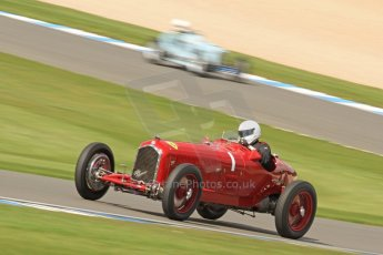World © Octane Photographic Ltd. Donington Historic Festival, Friday 3rd May 2013. HGPCA Nuvolari Trophy pre-1940 GP cars with Hall and Hall. Alfa Romeo P3 Tipo B (Scuderia Ferrari) - Tony Smith. Digital Ref : 0645cb7d0068
