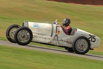 World © Octane Photographic Ltd. Donington Historic Festival, Friday 3rd May 2013. HGPCA Nuvolari Trophy pre-1940 GP cars with Hall and Hall. Bugatti T37 - Paul Grant. Digital Ref : 0645cb7d0080
