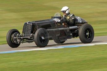 World © Octane Photographic Ltd. Donington Historic Festival, Friday 3rd May 2013. HGPCA Nuvolari Trophy pre-1940 GP cars with Hall and Hall. ERA R10B - Paddins Rowlins. Digital Ref : 0645cb7d0088