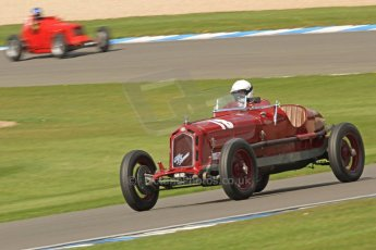 World © Octane Photographic Ltd. Donington Historic Festival, Friday 3rd May 2013. HGPCA Nuvolari Trophy pre-1940 GP cars with Hall and Hall. Alfa Romeo 1750GS - Nick Rossi. Digital Ref : 0645cb7d0091
