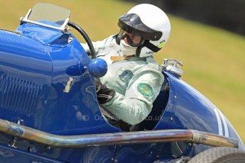 World © Octane Photographic Ltd. Donington Historic Festival, Friday 3rd May 2013. HGPCA Nuvolari Trophy pre-1940 GP cars with Hall and Hall. 1934 Maserati 8CM - Robert Newall. Digital Ref : 0645cb7d0147