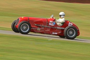 World © Octane Photographic Ltd. Donington Historic Festival, Friday 3rd May 2013. HGPCA Nuvolari Trophy pre-1940 GP cars with Hall and Hall. Maserati 6CM/4CM - Frederico Buratti. Digital Ref : 0645cb7d8214