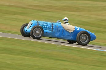 World © Octane Photographic Ltd. Donington Historic Festival, Friday 3rd May 2013. HGPCA Nuvolari Trophy pre-1940 GP cars with Hall and Hall. Talbot T26SS - Richard Pilkington. Digital Ref : 0645cb7d8215