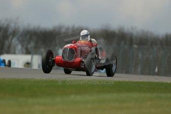 World © Octane Photographic Ltd. Donington Historic Festival, Friday 3rd May 2013. HGPCA Nuvolari Trophy pre-1940 GP cars with Hall and Hall. 1937 Maserati 6CM/4CM - Frederico Buratti. Digital Ref : 0645lw1d7463
