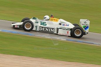 World © Octane Photographic Ltd. Donington Historic Festival, Friday 3rd May 2013. Ayrton Senna Car Demonstrations. Williams FW08C driven by Rob Hall. Digital Ref : 0646cb7d8323