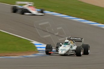 World © Octane Photographic Ltd. Donington Historic Festival, Friday 3rd May 2013. Ayrton Senna Car Demonstrations. Williams FW08C driven by Rob Hall. Digital Ref : 0646cb7d8326