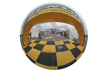 World © Octane Photographic Ltd. Donington Historic Festival, Sunday 5th May 2013. Ayrton Senna Car Display. Digital Ref : 0646lw1d7904