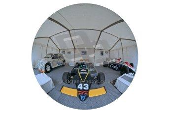 World © Octane Photographic Ltd. Donington Historic Festival, Sunday 5th May 2013. Ayrton Senna Car Display. Digital Ref : 0646lw1d7913