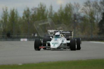 World © Octane Photographic Ltd. Donington Historic Festival, Friday 3rd May 2013. Ayrton Senna Car Demonstrations. Williams FW08C driven by Rob Hall. Digital Ref : 0646lw1d7531