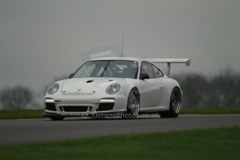 World © Octane Photographic Ltd. Donington Park General Unsilenced Test, Thursday 28th November 2013. Porsche GT3 Cup. Digital Ref : 0870cb1d8172