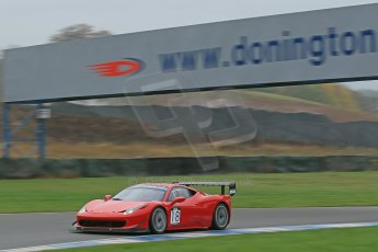 World © Octane Photographic Ltd. Donington Park General Unsilenced Test, Thursday 28th November 2013. Ferrari 458 BAMD - McGuinness/Nelson. Digital Ref : 0870cb1dx8278