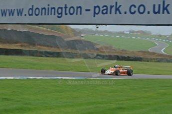 World © Octane Photographic Ltd. Donington Park General Unsilenced Test, Thursday 28th November 2013. Ex-Ian Scheckter , Team Gunston March 832 Mazda , Historic F2.Formula Atlantic. Digital Ref : 0870cb1dx8287