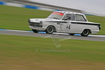 World © Octane Photographic Ltd. Donington Park General un-silenced test 25th April 2013. Ford Lotus Cortina - John Griffiths/James Thorpe. Digital Ref : 0641cb1d5055