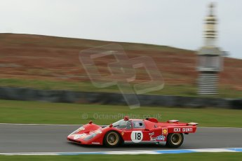 World © Octane Photographic Ltd. Donington Park General un-silenced test 25th April 2013. Ex-Ickx/Giunti Ferrari 512B. Digital Ref : 0641cb1d5504