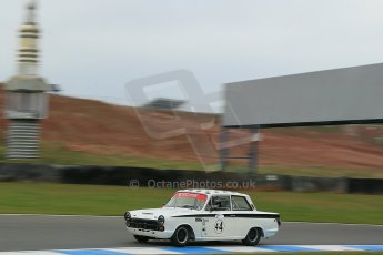 World © Octane Photographic Ltd. Donington Park General un-silenced test 25th April 2013. Ford Lotus Cortina - John Griffiths/James Thorpe. Digital Ref : 0641cb1d5507