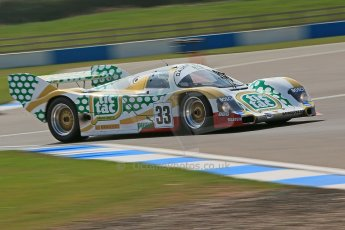 "World © Octane Photographic Ltd. Donington Park General un-silenced test 25th April 2013. Henrik Linberg - Porsche 962C Dauer Racing ""Tic Tac"" - Group C (Gp.C) Racing. Digital Ref : 0641cb1d6073"