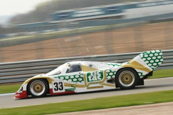 "World © Octane Photographic Ltd/Chris Enion. Donington Park General un-silenced test 25th April 2013. Henrik Linberg - Porsche 962C Dauer Racing ""Tic Tac"" - Group C (Gp.C) Racing. Digital Ref : 0641ce1d2644"