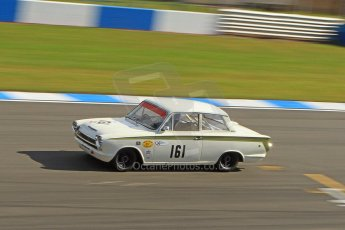 World © Octane Photographic Ltd. Donington Park General un-silenced testing, April 30th 2013. Alan Letts/Geoffrey Letts - Ford Lotus Cortina. Digital Ref : 0643cb7d7371
