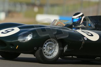 World © Octane Photographic Ltd. Donington Park General un-silenced testing, April 30th 2013. Benjamin Eastick - Jaguar D-Type. Digital Ref : 0643lw1d6402
