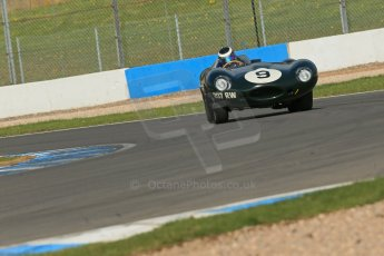 World © Octane Photographic Ltd. Donington Park General un-silenced testing, April 30th 2013. Benjamin Eastick - Jaguar D-Type. Digital Ref : 0643lw1d6436