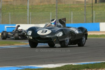 World © Octane Photographic Ltd. Donington Park General un-silenced testing, April 30th 2013. Benjamin Eastick - Jaguar D-Type. Digital Ref : 0643lw1d6519