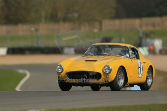 World © Octane Photographic Ltd. Donington Park General un-silenced testing, April 30th 2013. Jackie Oliver/Gary Pearson - Ferrari 250SWB. Digital Ref : 0643lw1d6663