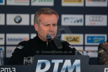 World © Octane Photographic Ltd. German Touring Cars (DTM) Brands Hatch Saturday 18th May 2013. Qualifying press conference. Head of BMW Motorsport, Jens Marquardt. Digital Ref: 0684cb1d5748