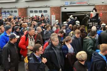 World © Octane Photographic Ltd. German Touring Cars (DTM) Brands Hatch Sunday 19th May 2013. The crowds watching the pitstop practices. Digital Ref: 0685cb1d5837