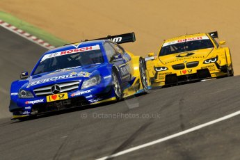 World © Octane Photographic Ltd. German Touring Cars (DTM) Brands Hatch Sunday 19th May 2013. Race. HWA Team – DTM AMG Mercedes C-Coupe – Gary Paffett followed by BMW Team MTEK – BMW M3 DTM – Timo Glock. Digital Ref: 0688ce1d2744