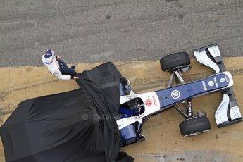 World © Octane Photographic Ltd. Formula 1 Winter testing, Barcelona – Circuit de Catalunya, 19th February 2013. Williams FW35 launch, Pastor Maldonado. Digital Ref: 0576cb7d8068