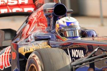 World © Octane Photographic Ltd. Formula 1 Winter testing, Barcelona – Circuit de Catalunya, 19th February 2013. Toro Rosso STR8, Daniel Ricciardo. Digital Ref: 0576cb7d8120