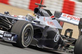 World © Octane Photographic Ltd. Formula 1 Winter testing, Barcelona – Circuit de Catalunya, 19th February 2013. Williams FW35, Pastor Maldonado. Digital Ref: 0576cb7d8189