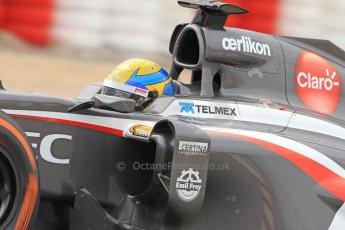 World © Octane Photographic Ltd. Formula 1 Winter testing, Barcelona – Circuit de Catalunya, 19th February 2013. Sauber C32, Esteban Gutierrez Digital Ref: 0576cb7d8203