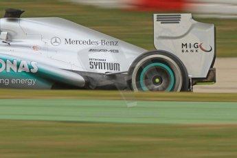 World © Octane Photographic Ltd. Formula 1 Winter testing, Barcelona – Circuit de Catalunya, 19th February 2013. Mercedes AMG Petronas  F1 W04 exhaust detail – Nico Rosberg. Digital Ref: 0576cb7d8232