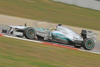 World © Octane Photographic Ltd. Formula 1 Winter testing, Barcelona – Circuit de Catalunya, 19th February 2013. Mercedes AMG Petronas  F1 W04 – Nico Rosberg. Digital Ref: 0576cb7d8304