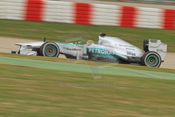 World © Octane Photographic Ltd. Formula 1 Winter testing, Barcelona – Circuit de Catalunya, 19th February 2013. Mercedes AMG Petronas  F1 W04 – Nico Rosberg. Digital Ref: 0576cb7d8307