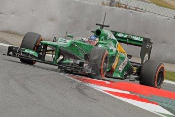 World © Octane Photographic Ltd. Formula 1 Winter testing, Barcelona – Circuit de Catalunya, 19th February 2013. Caterham CT03, Charles Pic. Digital Ref: 0576cb7d8356