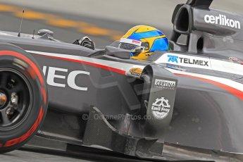 World © Octane Photographic Ltd. Formula 1 Winter testing, Barcelona – Circuit de Catalunya, 19th February 2013. Sauber C32, Esteban Gutierrez Digital Ref: 0576cb7d8382