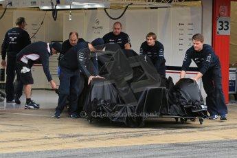 World © Octane Photographic Ltd. Formula 1 Winter testing, Barcelona – Circuit de Catalunya, 19th February 2013. Williams FW35 launch. Digital Ref: 0576lw1d0928