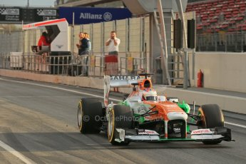 World © Octane Photographic Ltd. Formula 1 Winter testing, Barcelona – Circuit de Catalunya, 19th February 2013. Sahara Force India VJM06 – Paul di Resta. Digital Ref: 0576lw1d1236